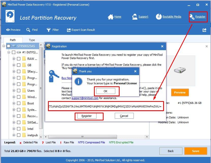 MiniTool Power Data Recovery Serial Key