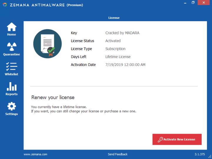 Zemana AntiMalware Serial Key